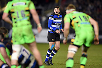 Josh Lewis of Bath Rugby looks on. Aviva Premiership match, between Bath Rugby and Northampton Saints on February 9, 2018 at the Recreation Ground in Bath, England. Photo by: Patrick Khachfe / Onside Images