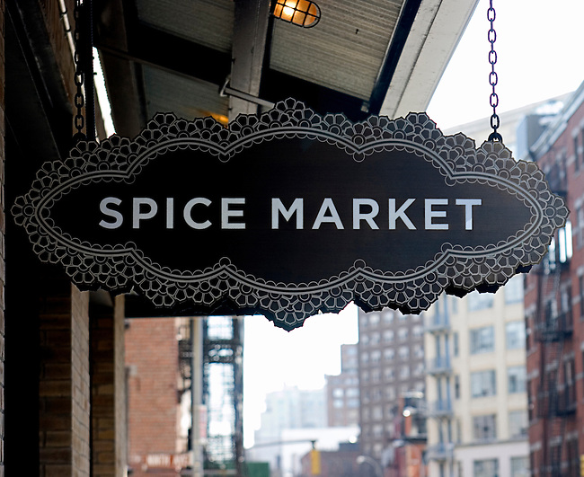 Sign, Spice Market, New York, New York