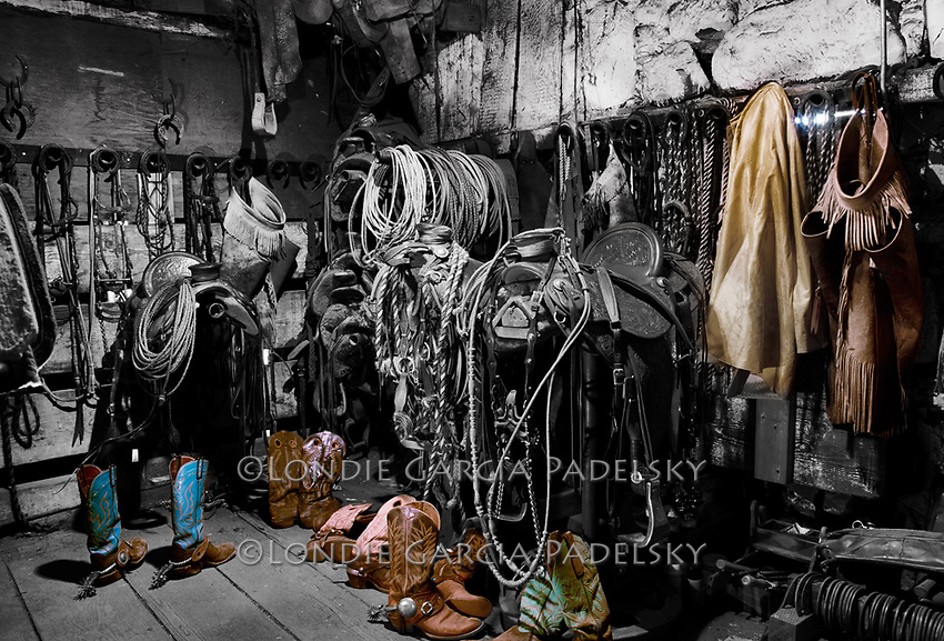 Cowboy tack room, Santa Margarita, California