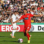10.08.2019, Donaustadion, Ulm, GER, DFB Pokal, SSV Ulm 1846 Fussball vs 1. FC Heidenheim, <br /> DFL REGULATIONS PROHIBIT ANY USE OF PHOTOGRAPHS AS IMAGE SEQUENCES AND/OR QUASI-VIDEO, <br /> im Bild Kevin Sessa (Heidenheim, #16)<br /> <br /> Foto © nordphoto / Hafner