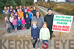 Protesters against the erection of a mast in Kilcummin have set up a 24-hour rota to prevent work on site. .L-R  Spokesperson Tommy Brosnan and Chairperson Tommy Johnson of Kilcummin Concerned Residents group with Adam O'Sullivan and Martha Doolan.