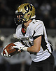 Wantagh No. 11 Dylan Beckwith races downfield during the Nassau County varsity football Conference II final against MacArthur at Hofstra University on Friday, Nov. 20, 2015. He returned an interception 85 yards for a touchdown in the first quarter.<br /> <br /> James Escher