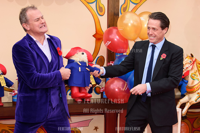 Hugh Bonneville and Hugh Grant at the &quot;Paddington 2&quot; premiere at the NFT South Bank, London, UK. <br /> 05 November  2017<br /> Picture: Steve Vas/Featureflash/SilverHub 0208 004 5359 sales@silverhubmedia.com