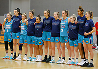 29th November 2019; Bendat Basketball Centre, Perth, Western Australia, Australia; Womens National Basketball League Australia, Perth Lynx versus Southside Flyers; Southside Flyers players line up for the National Anthem - Editorial Use