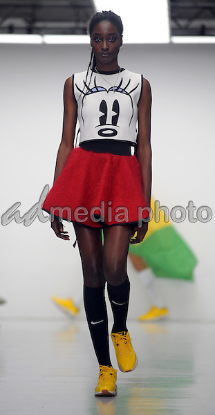 11 January 2016 - London, England - Model. Bobby Abley Fashion Show During London Collections Men Autumn Winter 2016 London. Photo Credit: Kate Green/Alpha Press/AdMedia