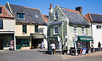 Historic buildings in the town of Holt, north Norfolk, England