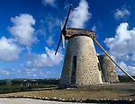 Antigua, West Indies<br /> Restored windmill at Betty's Hope, the Codrington sugar plantation built in 1650 -<br /> Caribbean Leeward Islands