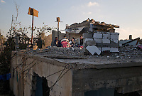 Al Kuza'ah, Gaza strip, 20 nov 2009.A year after operation 'Cast Lead', the scars of war are still visible everywhere in the village. Psychological scars are present as well...
