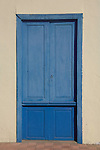 Blue painted door.Tenerife, Canary Islands