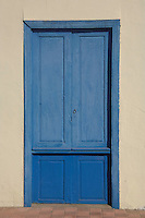 Blue painted door.Tenerife, Canary Islands