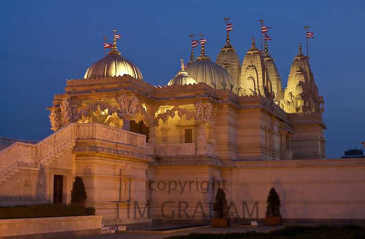 Shri Swaminarayan Mandir Hindu temple in Neasdon, London, UK