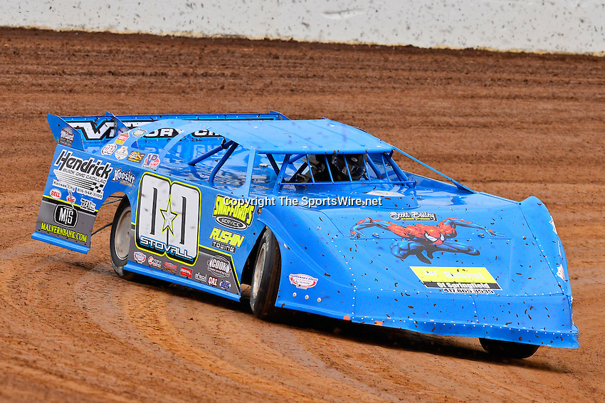 May 22, 2014; 5:55:33 PM; Wheatland, Mo., USA; The  Lucas Oil Late Model Dirt Series running the 22nd Annual Lucas Oil Show-Me 100 Presented by ProtectTheHarvest.com.  Mandatory Credit: (thesportswire.net)