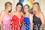 Pictured at the Kerry General Hospital Nurses Ball at the Ballyroe Hotel on Thursday night were Orla McMahon, Siobain McMahon, Yvonne Bovenizer, Mary O'Keeffe