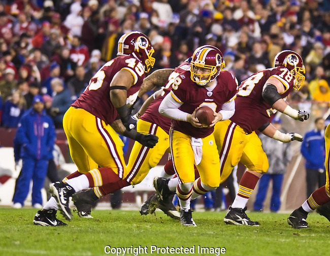 Redskins Quarterback Hands Off