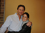Another World and Charmed Brian Krause poses with Charmed Holly Marie Combs at Chiller Theatre's Spring Spooktacular on the weekend of April 27-29 at the Hilton Parsippany in Parsippany, New Jersey. (Photo by Sue Coflin/Max Photos)