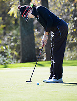 Middleton's Katherine Meier putts on No. 11 during the Wisconsin WIAA state girls high school golf tournament on Monday, 10/14/19 at University Ridge Golf Course
