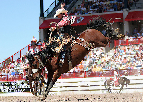 Ben Morrow Saddle Bronc riding at Cheyenne Frontier Days