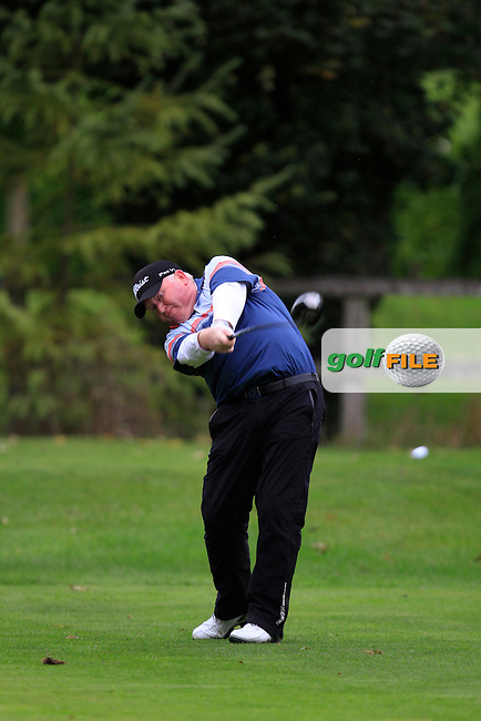 Brendan McGovern (Headfort G.C) on the 3rd tee during Round 4 of The Cassidy Golf 103rd Irish PGA Championship in Roganstown Golf Club on Sunday 13th October 2013.<br /> Picture:  Thos Caffrey / www.golffile.ie