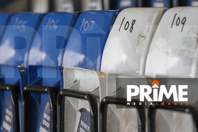 during the Sky Bet League 2 match between Bury and Grimsby Town at Gigg Lane, Bury, England on 8 September 2018. Photo by James Gill / PRiME Media Images.