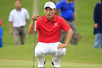 Sunghoon Kang (Asia) on the 1st green during the Singles Matches of the Eurasia Cup at Glenmarie Golf and Country Club on the Sunday 14th January 2018.<br /> Picture:  Thos Caffrey / www.golffile.ie