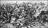BNPS.co.uk (01202 558833)<br /> Pic: AmberleyBooks/BNPS<br /> <br /> A last stand at the Battle of Isandlwana. <br /> <br /> The remarkable untold story of an epic battle between the British and a resilient native mountain tribe called the Bepadi which brought a definitive end to the Zulu War has been revealed in a new book.<br /> <br /> Much has been written about the famous British rearguard of Rorke's Drift in January 1879 but there was another significant battle 11 months later - at Fighting Kopke - which has been completely overlooked until now.<br /> <br /> Following the British annexation of the Transvaal in 1877, the Bapedi tribe and the British were at loggerheads for two years with the Bapedi getting the upper hand in several skirmishes.<br /> <br /> The conflict came to a head in a fierce four day battle at Fighting Kopke where the Bapedi were finally defeated by British troops and their Swazi allies under the command of Sir Garnet Wolseley in November 1879.