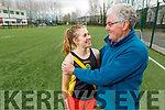 Leah Long with her grandfather Dinny Long who as been her sporting inspiration.