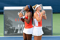 Washington, DC - August 3, 2019: Coco Gauff (USA) and Catherine McNally (USA) defeat Maria Sanchez (USA) and Fanny Stollar (HUN) in the WTA Woman's Doubles Championship at Rock Creek Tennis Center, in Washington D.C. (Photo by Philip Peters/Media Images International)