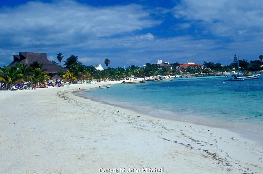 White sand beach at Akumal. Quintana Roo, Mexico