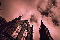 Church of the Coventry against the sky Newbury Street, Boston, Massachusetts
