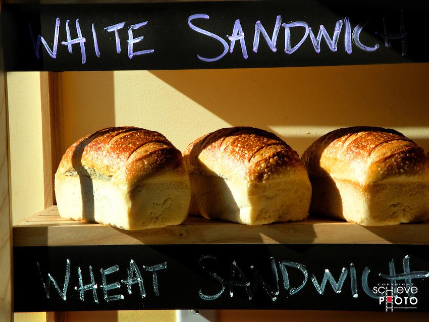 Fresh bread for sale.