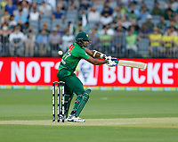 8th November 2019; Optus Stadium, Perth, Western Australia Australia; T20 Cricket, Australia versus Pakistan; Mohammad Hasnain of Pakistan miss times a cut shot during his innings - Editorial Use