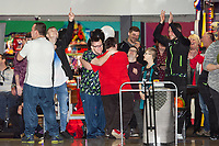 Pictured: Swansea fans during the Swansea player and fans bowling evening at Tenpin Swansea, Swansea, Wales, UK. Wednesday 22 January 2020