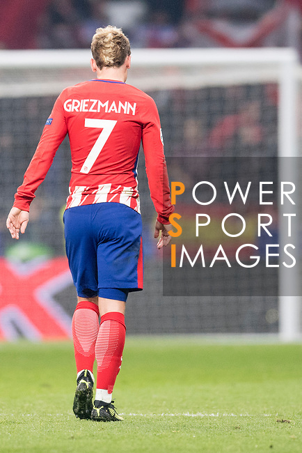 Antoine Griezmann of Atletico de Madrid cerebrating after score a goal during the UEFA Champions League 2017-18 match between Atletico de Madrid and AS Roma at Wanda Metropolitano on 22 November 2017 in Madrid, Spain. Photo by Diego Gonzalez / Power Sport Images