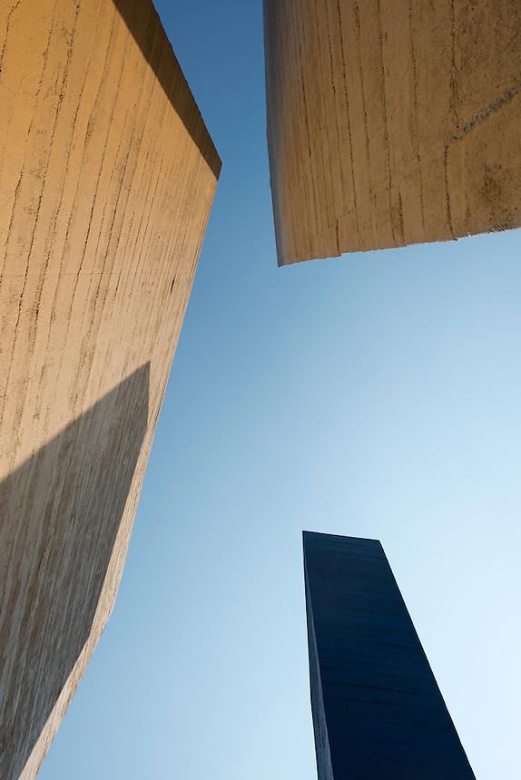 Torres de Satelite a colaborative effort by the sculptor Mathias Goeritz and the Architect Luis Barragan in the Satelite suburb of Mexico City, Estado de Mexico