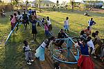 TANZANIA Mara, Tarime, village Masanga, region of the Kuria tribe who practise FGM Female Genital Mutilation, temporary rescue camp of the Diocese Musoma for girls which escaped from their villages to prevent FGM / TANSANIA Mara, Tarime, Dorf Masanga, in der Region lebt der Kuria Tribe, der FGM weibliche Genitalbeschneidung praktiziert, temporaerer Zufluchtsort fuer Maedchen, denen in ihrem Dorf Genitalverstuemmelung droht, in einer Schule der Dioezese Musoma, Spielplatz