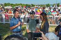 Sung Hyun Park (KOR) is interviewed after winning the Volunteers of America LPGA Texas Classic, at the Old American Golf Club in The Colony, Texas, USA. 5/6/2018.<br /> Picture: Golffile | Ken Murray<br /> <br /> <br /> All photo usage must carry mandatory copyright credit (&copy; Golffile | Ken Murray)