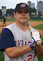 August 29, 2003:  Gary Burnham of the Syracuse SkyChiefs, Class-AAA affiliate of the Toronto Blue Jays, during a International League game at Frontier Field in Rochester, NY.  Photo by:  Mike Janes/Four Seam Images