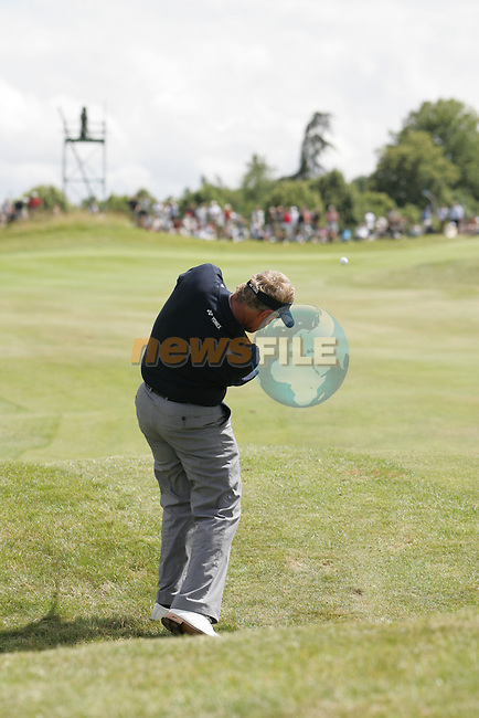 Colin Montgomerie takes his 2nd shot on the 17th hole during the 3rd round of the 2008 Open de France Alstom at Golf National, Paris, France June 28th 2008 (Photo by Eoin Clarke/GOLFFILE)