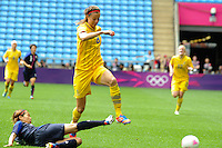 28.07.2012 Coventry, England.  in action during the Olympic Football Women's Preliminary game between Japan and Sweden from the City of Coventry Stadium