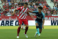 Alex Granell of Girona and Amos of Tottenham during Girona FC vs Tottenham Hotspur, Friendly Match Football at Estadi Montilivi on 4th August 2018