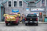Vinalhaven pickup truck loaded with lobster traps