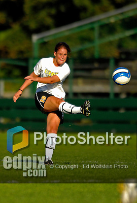 31 August 2007: University of Vermont Catamounts defender Emilie Rowe, a Junior from Rochester, NY, in action against the University of Central Arkansas Sugar Bears at Historic Centennial Field in Burlington, Vermont. The Catamounts defeated the Sugar Bears 1-0 during the TD Banknorth Soccer Classic...Mandatory Photo Credit: Ed Wolfstein Photo