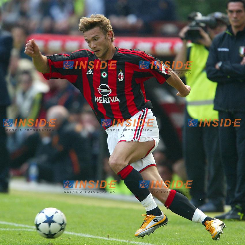 Milano 2/5/2004 Campionato Italiano Serie A - Matchday 32<br /> Milan Roma 1-0 <br /> Milan Campione d'Italia - Milan wins italian championship <br /> Andrij Shevchenko (Milan)
