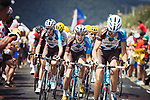 AG2R La Mondiale team climbing during Stage 9 of the 104th edition of the Tour de France 2017, running 181.5km from Nantua to Chambery, France. 9th July 2017.<br /> Picture: ASO/Pauline Ballet | Cyclefile<br /> <br /> <br /> All photos usage must carry mandatory copyright credit (&copy; Cyclefile | ASO/Pauline Ballet)