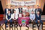 Some of the Dromid Minors winners of the County & South Kerry Leagues at the Club Social in the Waterville Lake Hotel on Friday night, pictured front l-r; Shane Ó Concúbhair, Keelan Ó Faircheallaigh, Cian Ó Sé, Caoimhín Ó Síocháin, back l-r; Dylan Ó Donnchú, Sean Ó Donnchú, Graham Ó Súilleabháin, Daithí Ó Muircheartaigh, Daithí Ó Muircheartaigh Jnr., Pearse Ó Currnáin, Niall Ó Concúbhair agus Sean Ó Sé.
