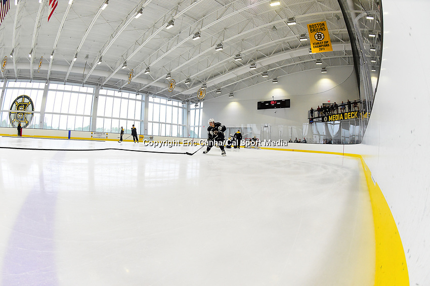July 7, 2017: Boston Bruins forward T.J. Moore (83) does a drill during the Boston Bruins development camp held at Warrior Ice Arena in Brighton, Massachusetts. Eric Canha/CSM