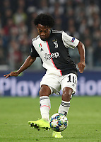Football Soccer: UEFA Champions League -Group Stage-  Group D - Juventus vs Lokomotiv Moskva,, Allianz Stadium. Turin, Italy, October 22, 2019.<br /> Juventus' Juan Cuadrado in action during the Uefa Champions League football soccer match between Juventus and Lokomotiv Moskva, at Allianz Stadium in Turin, on October 22, 2019.<br /> UPDATE IMAGES PRESS