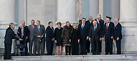 Dignitaries including members of his Cabinet await the arrival of the casket of former President George. H. W. Bush at the Capitol Rotunda in Washington, DC where he will lie state, December 3, 2018. <br /> CAP/MPI/RS<br /> &copy;RS/MPI/Capital Pictures