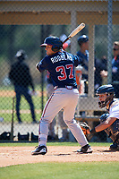 Atlanta Braves Jordan Rodgers (37) during a Minor League Spring Training game against the Detroit Tigers on March 22, 2018 at the TigerTown Complex in Lakeland, Florida.  (Mike Janes/Four Seam Images)