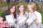 Pictured after getting eleven A's each in their Junior Cert results on Wednesday at Mercy Mounthawk, Tralee were Katie Bowler, Catherine Mannix and Miriam O'Connor.